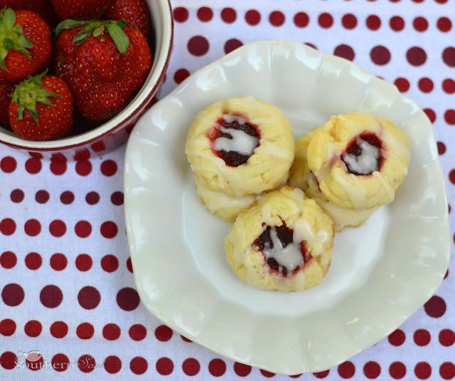 Strawberry Jam Butter Cookies