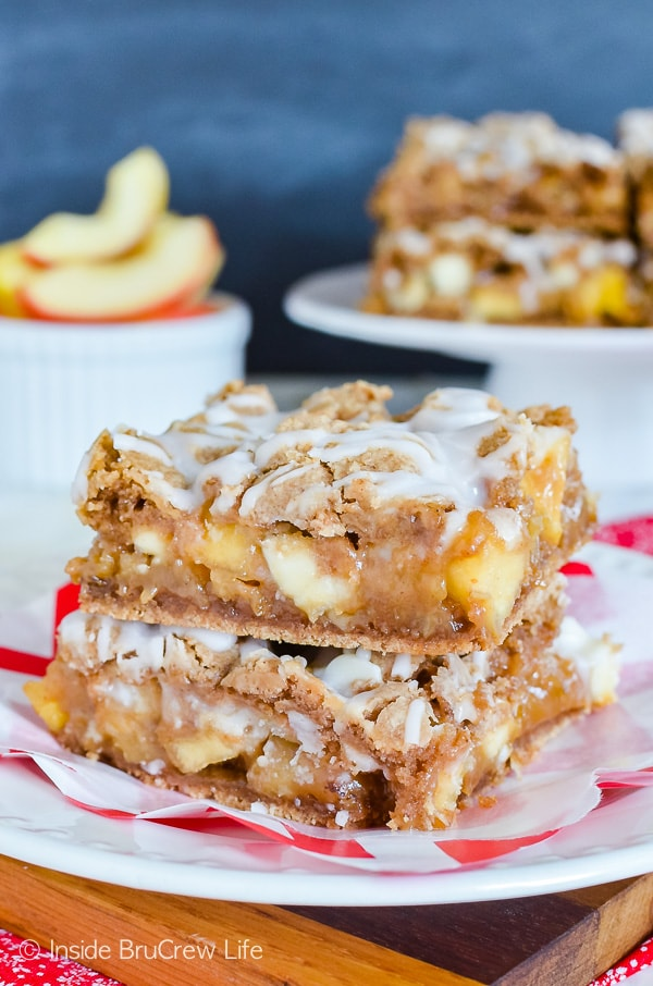 Caramel Apple Bars