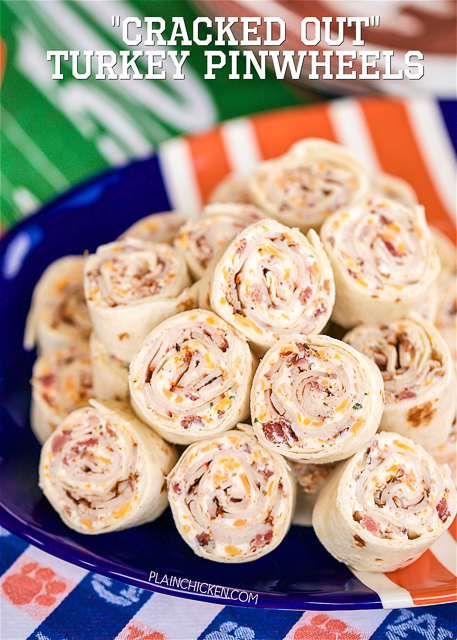Cracked Out Turkey Pinwheels