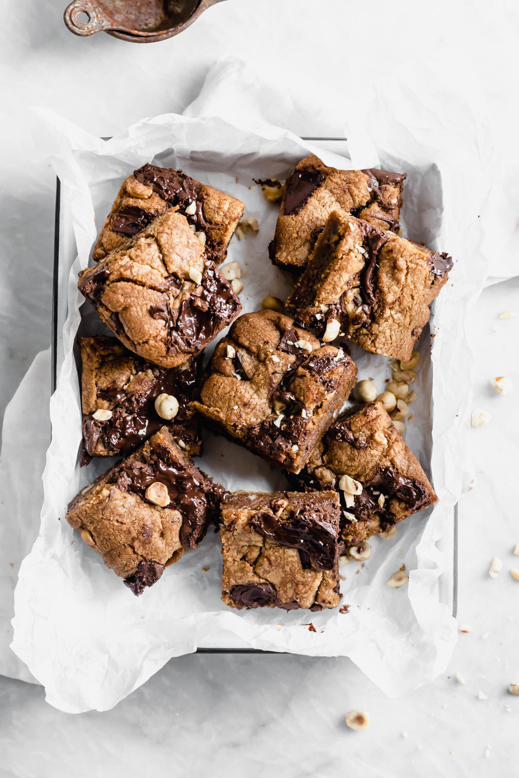Brown Butter Nutella Chocolate Chip Cookie Bars