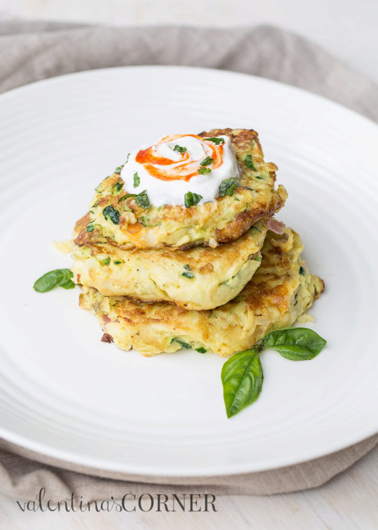 Zucchini and Eggs Breakfast Fritters