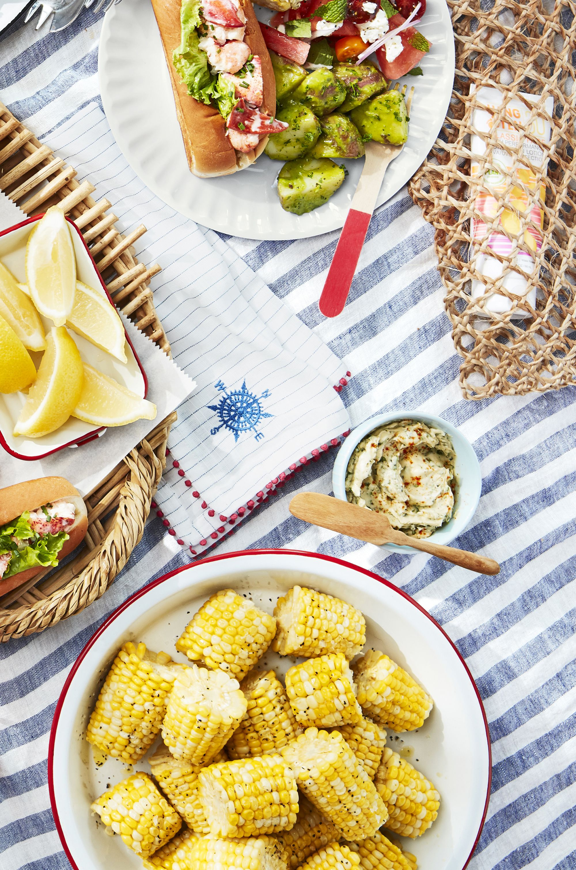 Corn Cobettes With Basil Butter
