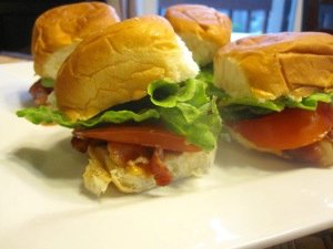 BLT Sliders with Camp Sauce