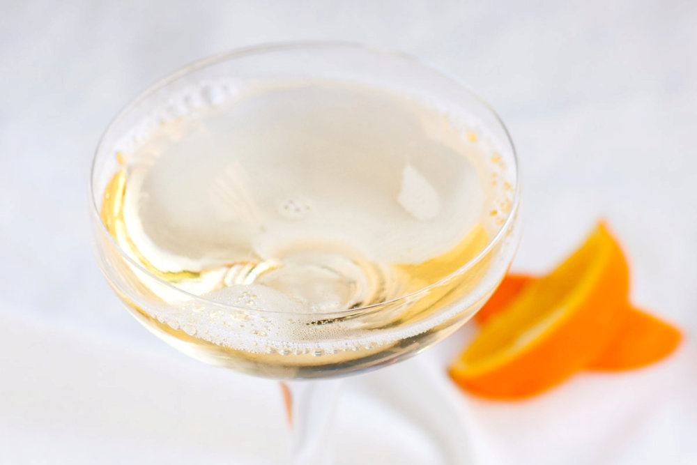 Champagne and St Germain Cocktail