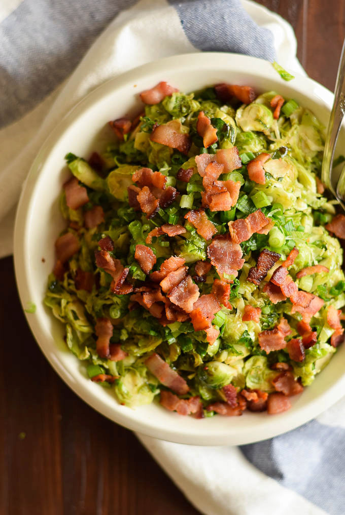 Brussels Sprout Salad with Bacon
