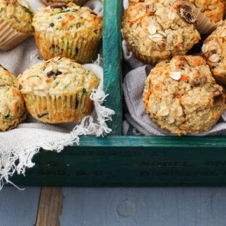 Zucchini Chocolate Chunk Muffins with Ginger