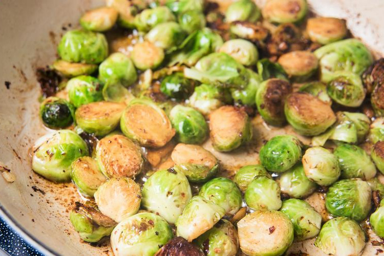 Garlic Sautéed Brussels Sprouts