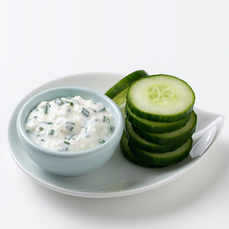 Cucumber Chips with Dip