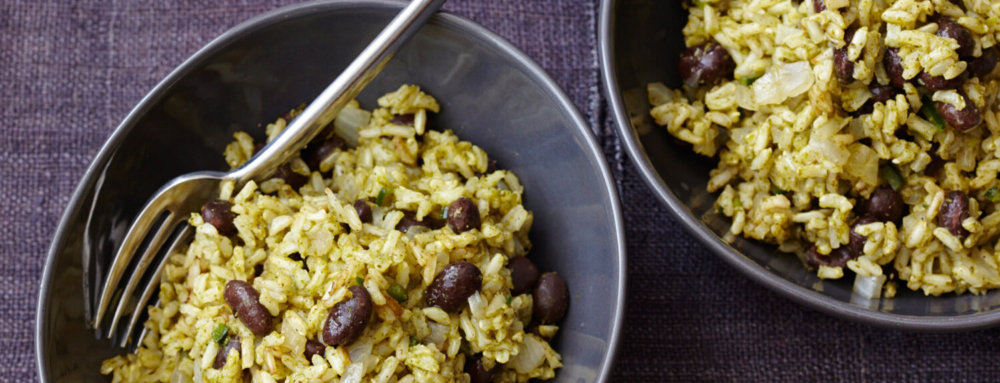 Green Chile Rice with Black Beans