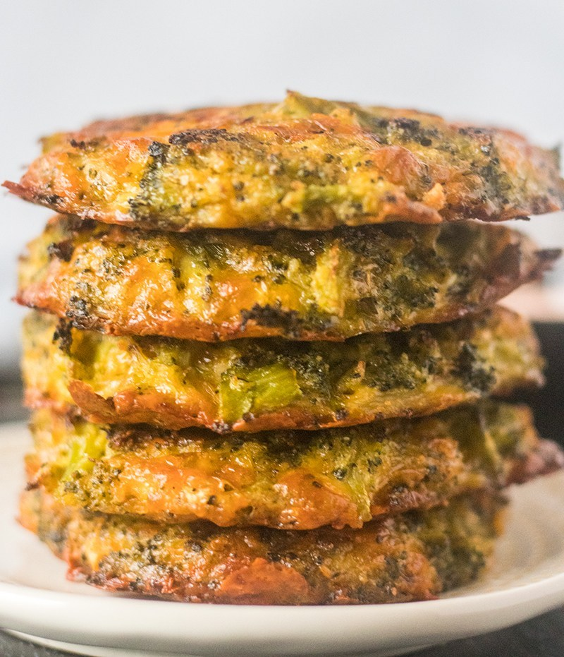 Cheesy Baked Broccoli Fritters (GF & Low Carb)