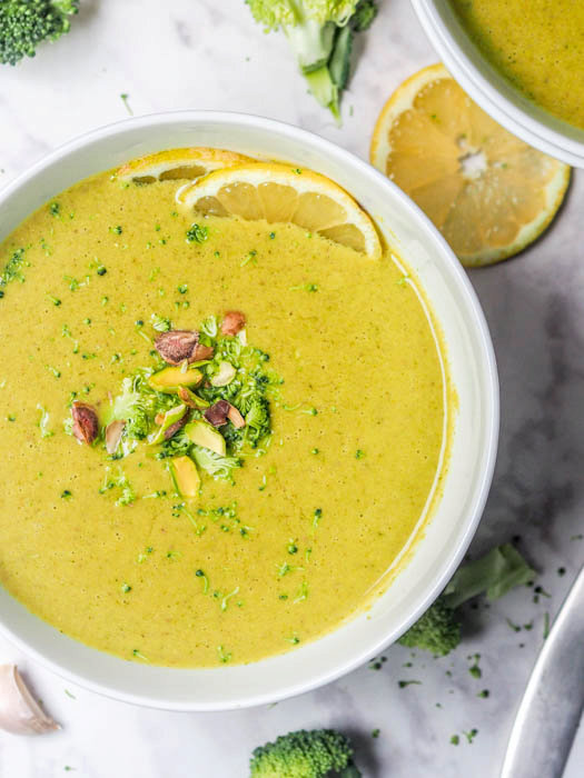 Cream of Broccoli Soup Recipe {Gluten-Free, Vegan}