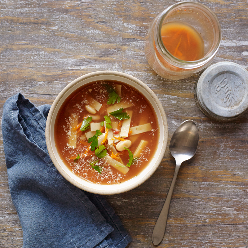 Instant Pasta e Fagiole Soup for One