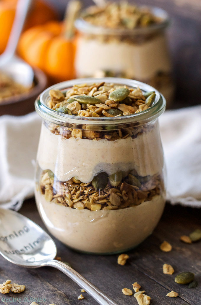 Pumpkin Pie Yogurt and Granola Parfaits