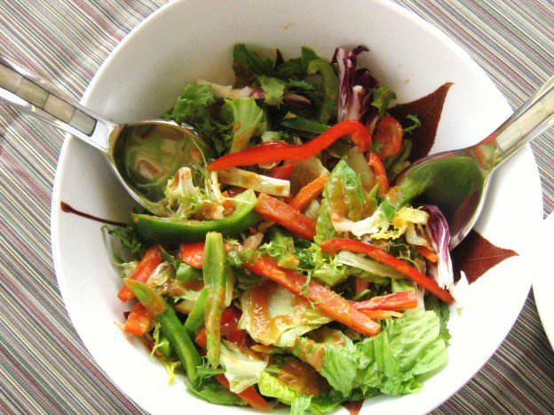 Sweet 'N' Spicy Asian Salad with Peanut Sauce