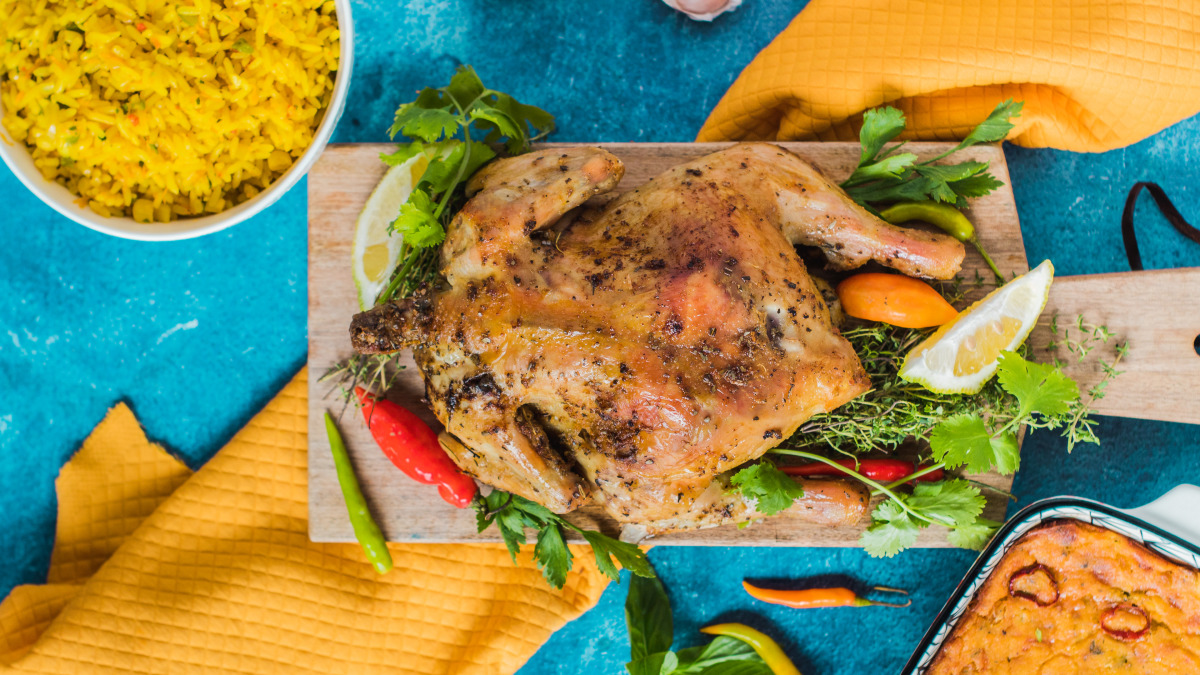 Moist Roasted Whole Chicken