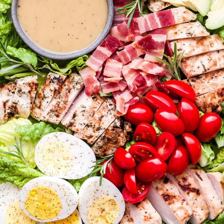 Grilled Rosemary Chicken Salad with Honey Mustard Dressing