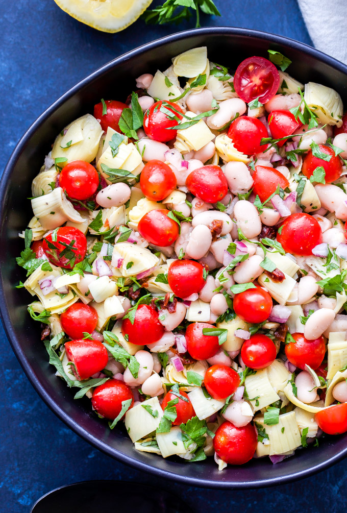 White Bean, Artichoke and Tomato Salad