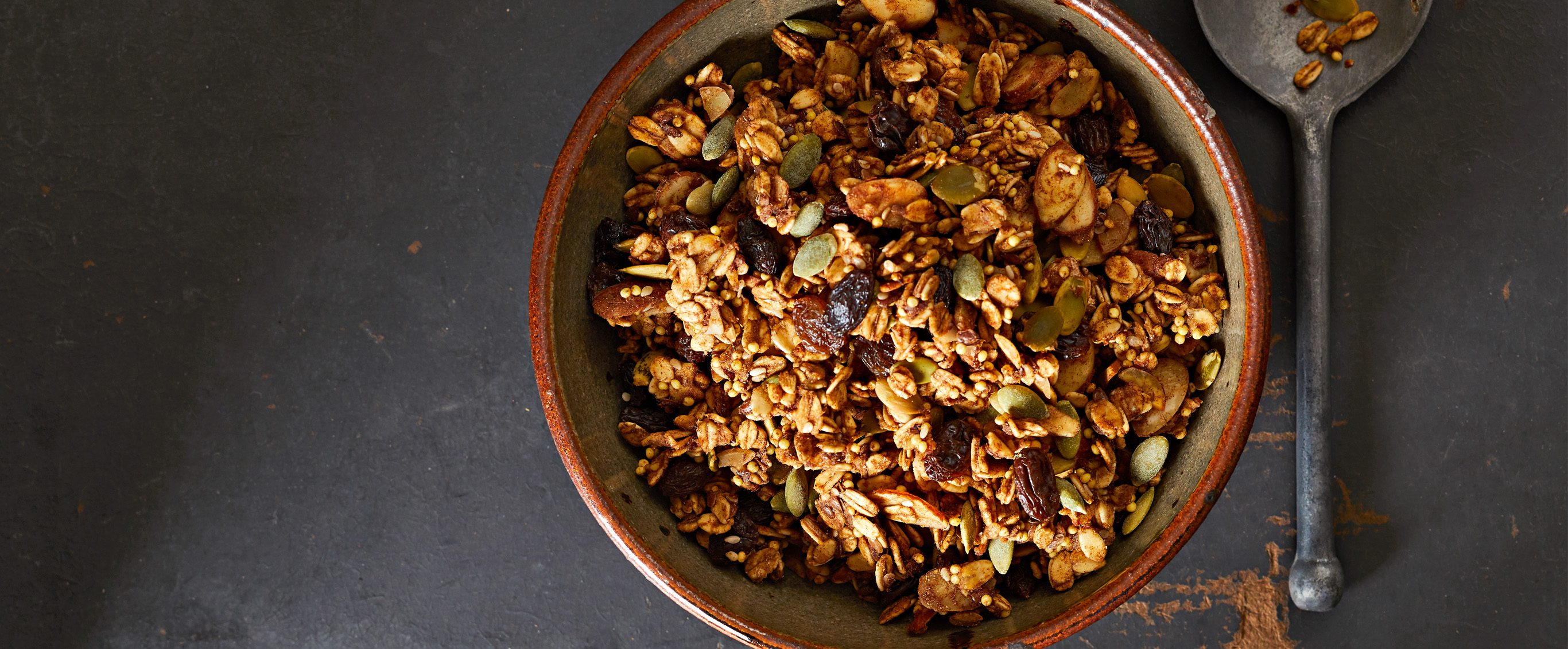 Pumpkin Seed Granola with Millet and Oats