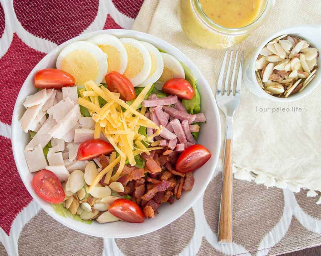 House Salad w/ Hot Bacon Honey Mustard Dressing {primal}