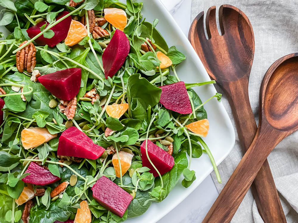 Citrus Beet Salad with Maple Balsamic Dressing