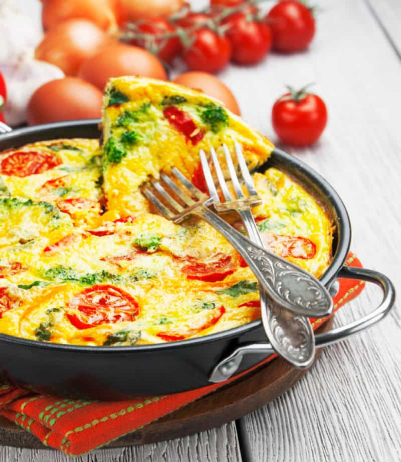 How to Make a Frittata to Use Up Leftover Veggies and Meat